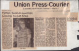 Union Press Courier article on Sweet Shop