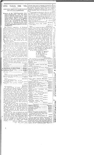 [City taxes for 1898: levy of 15 mills recommended by the finance committee]