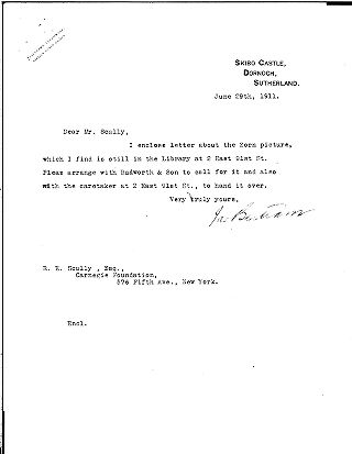 [James Bertram to R.E. Scully, June 29, 1911]