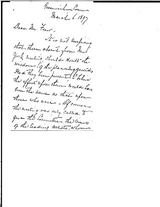 (Andrew Carnegie and Louise Carnegie to William N. Frew, March 6, 1897)