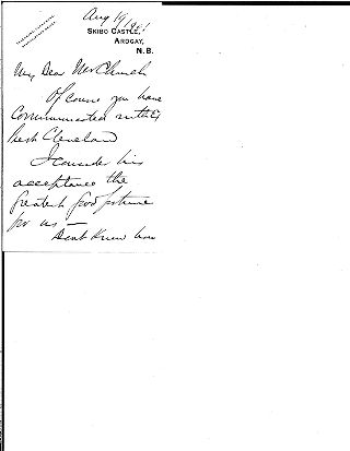 (Andrew Carnegie to Samuel Harden Church, August 19, 1901 (draft))