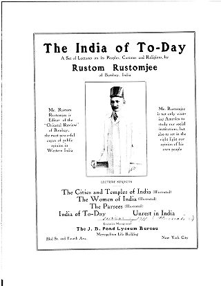 The India of to-day : a set of lectures on its people, customs and religions, by Rustom Rustomjee...