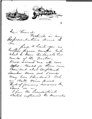 "[Andrew Carnegie to unidentified """"dear friend"""", March, 1912]"