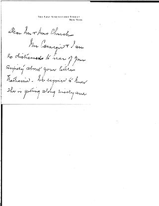 [Louise W. Carnegie to Mr. and Mrs. Samuel H. Church, November 15, 1914]