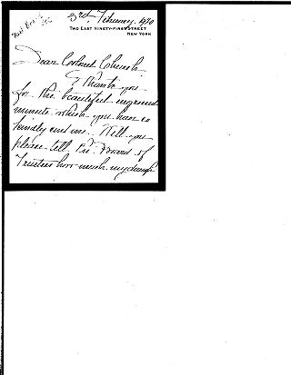 (Louise W. Carnegie to Colonel Church, February 3, 1920)