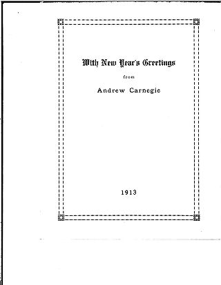 With New Year's greetings from Andrew Carnegie