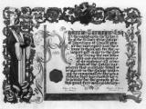 Illuminated address from the College of Physicians, Philadelphia