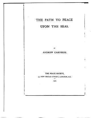 The path to peace upon the seas