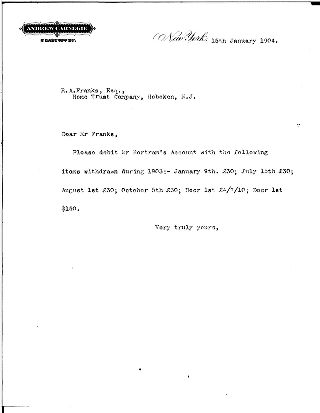 [[Andrew Carnegie] to Robert A. Franks, January 15, 1904]