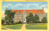 McKee Hall [2] color postcard, Geneva College, Beaver Falls, Pa.