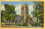 McCartney Library [4] color postcard, Geneva College, Beaver Falls, Pa.