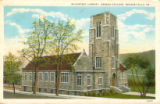 McCartney Library [5] color postcard, Geneva College, Beaver Falls, Pa.