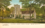 McCartney Library [6] color postcard, Geneva College, Beaver Falls, Pa.