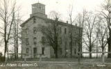 Old College [1] b&w postcard, Geneva College, Northwood, Ohio