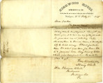 Letter from Harry White to Thomas White, February 25, 1865