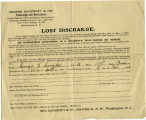 Lost Discharge form of George A. Snyder