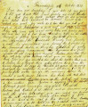 Letter from a mother to her sons and daughters, Drumhaply, October 11, 1850