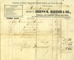 Bill of sale from Joseph B. Bussier and Co., November 30, 1863
