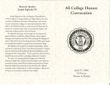 All-College Honors Convocation