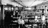 Lycoming Rubber Company employees in the shoemaking room