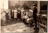 Pennsylvania Motor Policeman with a Large Group of Women Driver Education Students