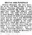 Deaths and funerals [Mildred Elizabeth Hunt]