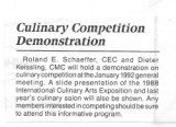 ACFPC Culinary Competition Demonstration