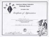 Nicholas Colletti, III Certificate of Appreciation.