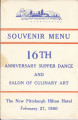 Supper Dance Menu 1960