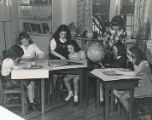 Lower School Geography Class  - 1940s-1950s