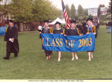 Graduates Carry 'Class of 2003' Banner to Graduation Ceremony