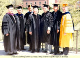 Dignitaries at the 1986 Commencement Ceremony