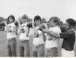 Coach Frank Girardi with members of the 1972-1973 Lycoming College Football Team