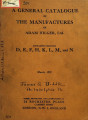 A general catalogue of the manufactures of Adam Hilger, Ltd.