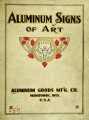 Catalogue of aluminum signs of art
