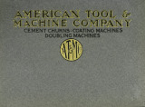 Catalog of cement churns, coating machines, doubling machines and cloth measuring devices for use...