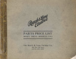 Rauch and Lang electrics : parts price list : shaft drive models, 1913