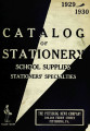 Catalog of stationery, office and school supplies, druggists' sundries, games, novelties, etc.