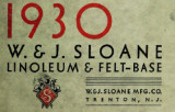 W. and J. Sloane linoleum and felt base