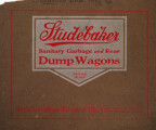 Studebaker sanitary garbage and rear dump wagons