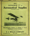 1911 catalogue 'F' of aeronautical supplies