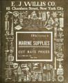 1912 catalogue B of marine supplies at cut rate prices