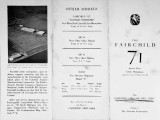 The Fairchild 71 : seven place cabin monoplane, approved type certificate no. 89