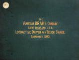 Locomotive driver and truck brake catalogue 1900