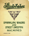 Studebaker patent sprinkling wagons and street sweeping machines