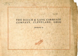 Catalog, Rauch & Lang Carriage Company