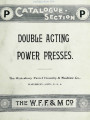 Catalogue-section P : double acting power presses