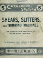 Catalogue section S : shears, slitters, and trimming machines, for cutting off metal bars, sheets,...