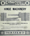 Catalogue-section B : hinge machinery