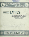 Catalogue section L : special lathes : for trimming trimming metal shells, and for knurling,...